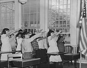 The original salute used for the Pledge of Allegiance was ruined by another German in the 1940s.