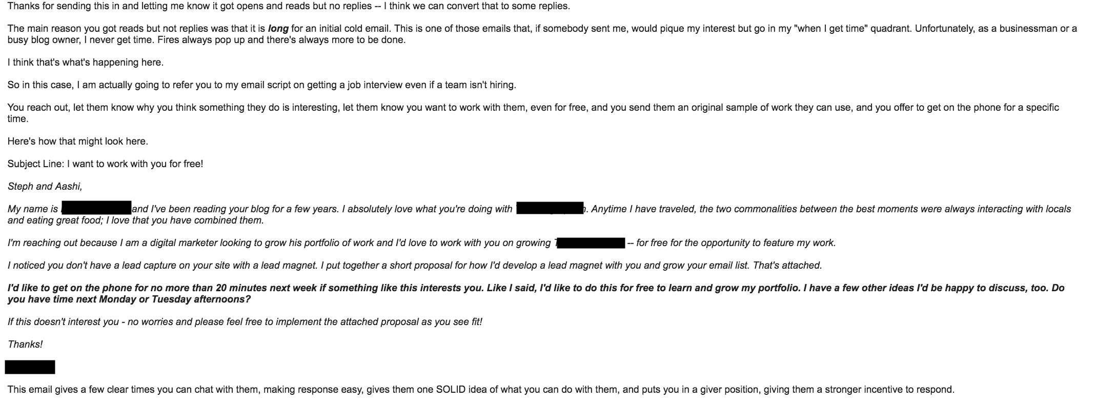 picture Heres an excerpt from the email