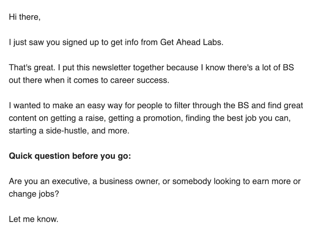 Get ahead labs newsletter